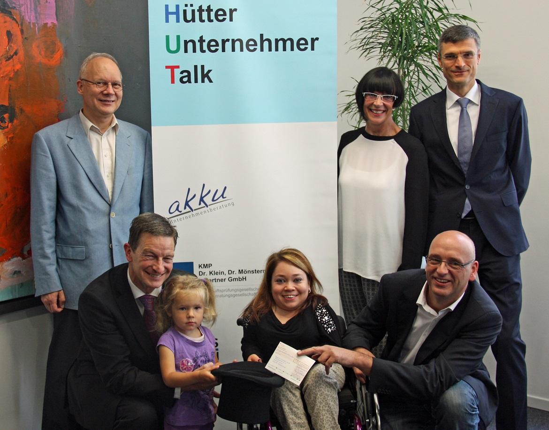 Hütter Unternehmer Talk spendet 1.500 Euro für Patsy & Michael Hull Foundation