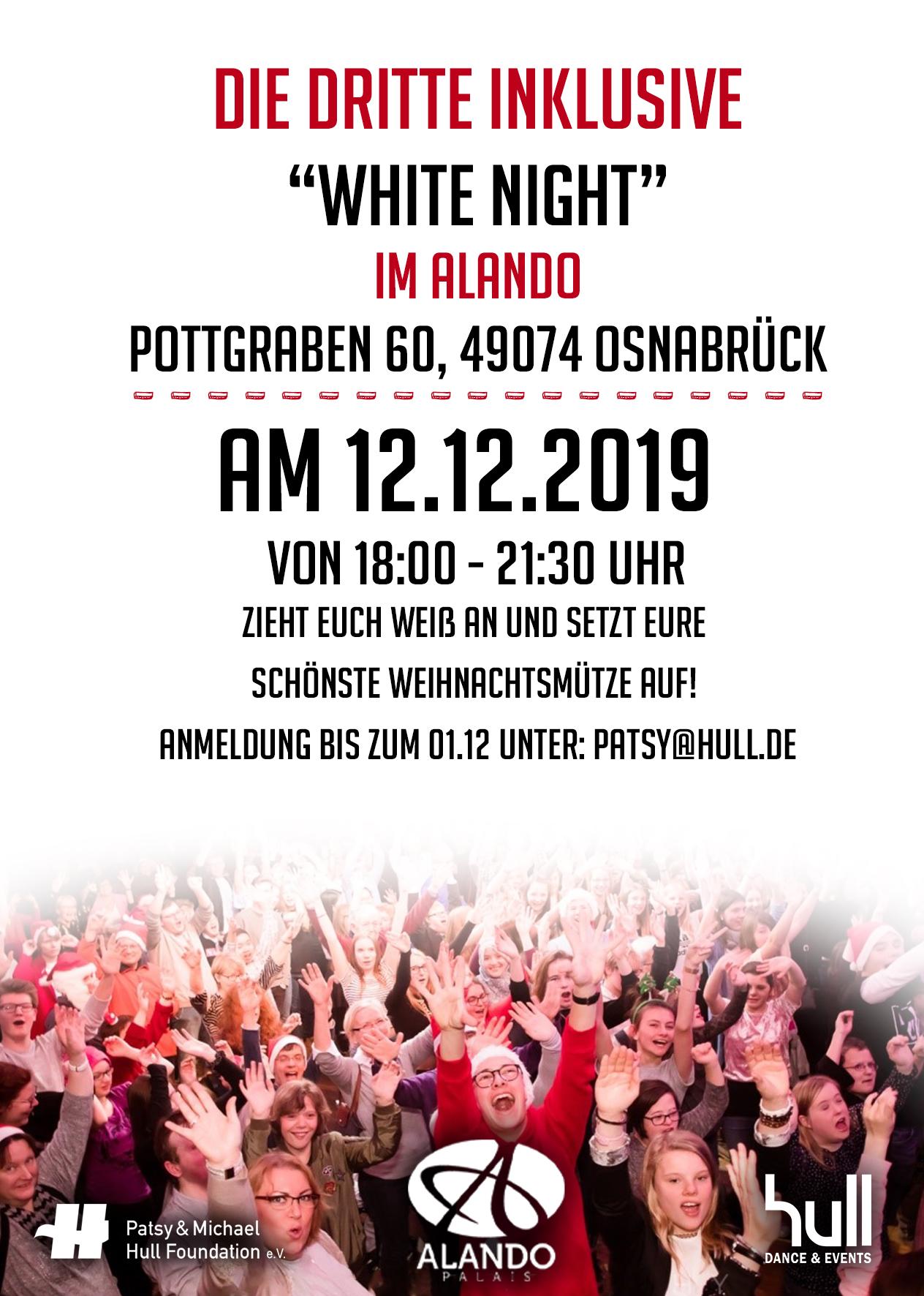 """Unsere Weihnachtsfeier im Alando – Die dritte inklusive """"White Night"""""""